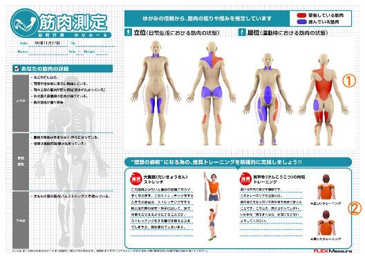 世田谷区弦巻 つるまき整骨院:筋肉評価レポートの画像